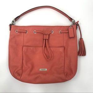 COACH | Coral Avery Drawstring Bucket Shoulder Bag